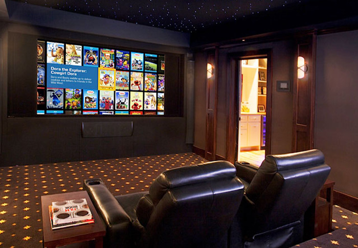 A v installation pros hi def solutions of arkansas for Small room movie theater